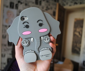 adorable, case, and elephant image