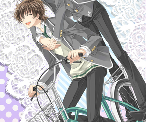 anime, bicycle, and bl image