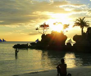 beach, beautiful, and boracay image