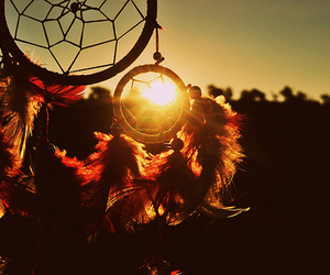 Dream, dreamcatcher, and sun image