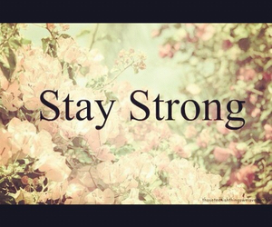 strong, flowers, and stay strong image