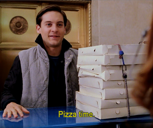 pizza, food, and spiderman image
