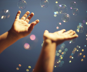 bubbles and hands image