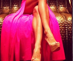 dress, pink, and legs image