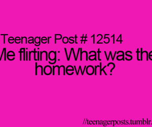 quote, flirt, and homework image