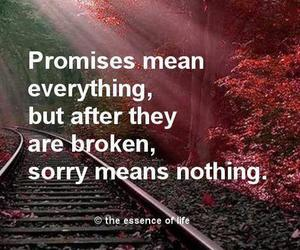 promise, quote, and sorry image
