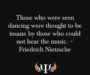 black and white, dance, and friedrich nietzsche image