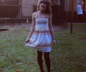 dress, outside, and girl image