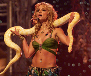 britney spears and snake image