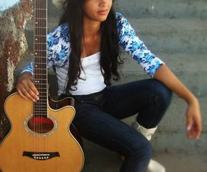 country, guitar, and hat image