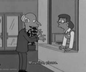 morphine, simpsons, and drugs image
