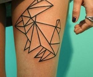 tattoo, rabbit, and leg image