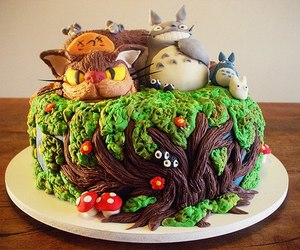 cake, food, and totoro image