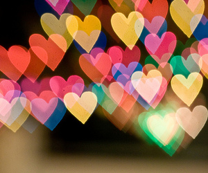 hearts, heart, and light image