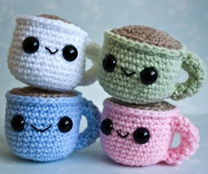 colors, knitted, and cute image