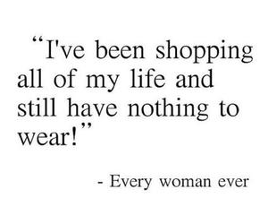 shopping, woman, and quotes image