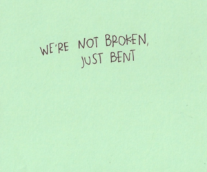 quote, broken, and pink image