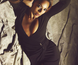 black, curves, and dress image