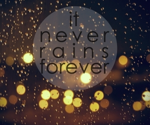 rain, forever, and quote image