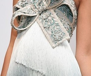 dress, bow, and Marchesa image