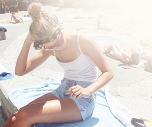 (:, beach, and sunglasses image