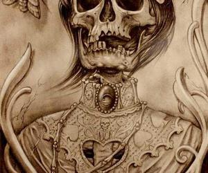 skull, art, and tattoo image