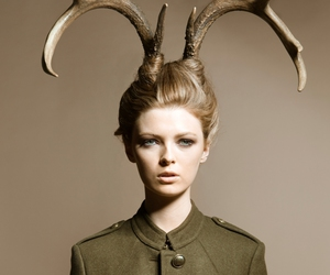 girl, fashion, and horns image