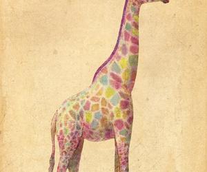 giraffe, animal, and drawing image