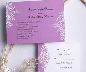 purple, cheap wedding invitations, and wedding invtiations image