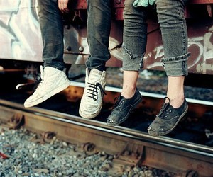 shoes, train, and boy image