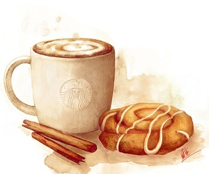 drawing, starbucks, and illustration image