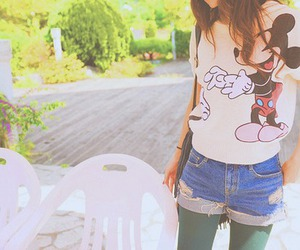 denim, disney, and mickey mouse image