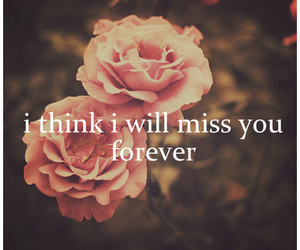 forever, miss, and quotes image
