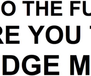 fuck, judge, and typography image