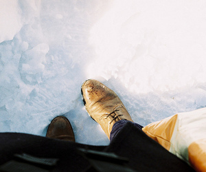 snow, indie, and shoes image