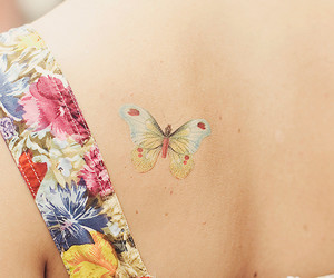 body art, butterfly, and tattoo image