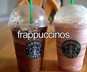 starbucks and frappuccinos image
