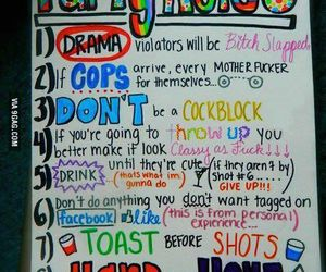 party, rules, and drink image