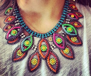 fashion, necklace, and colors image