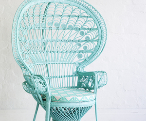 awesome, blue, and chair image