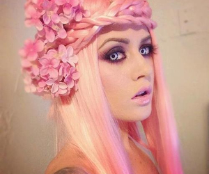 hair, tattoo, and pink hair image
