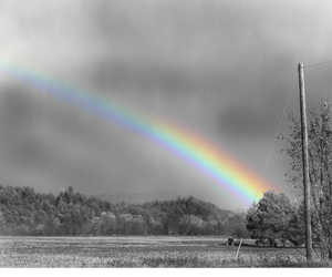 rainbow, black and white, and black image
