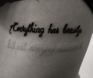 black ink, quote, and Tattoos image