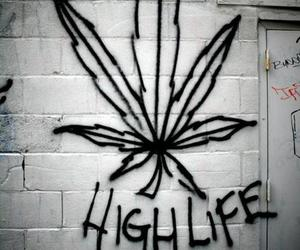 weed, high, and life image