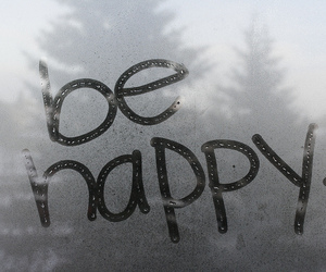 happy, rain, and be happy image