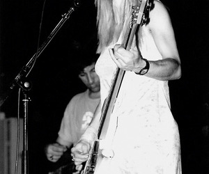 Kim Gordon, black and white, and cool image