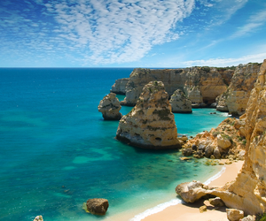 beach, portugal, and algarve image