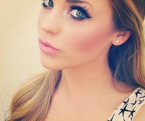 girl, pretty, and make up image