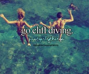 summer, just girly things, and cliff diving image