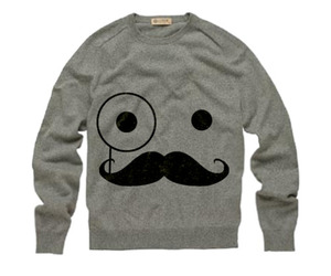 cool, jumper, and mustache image